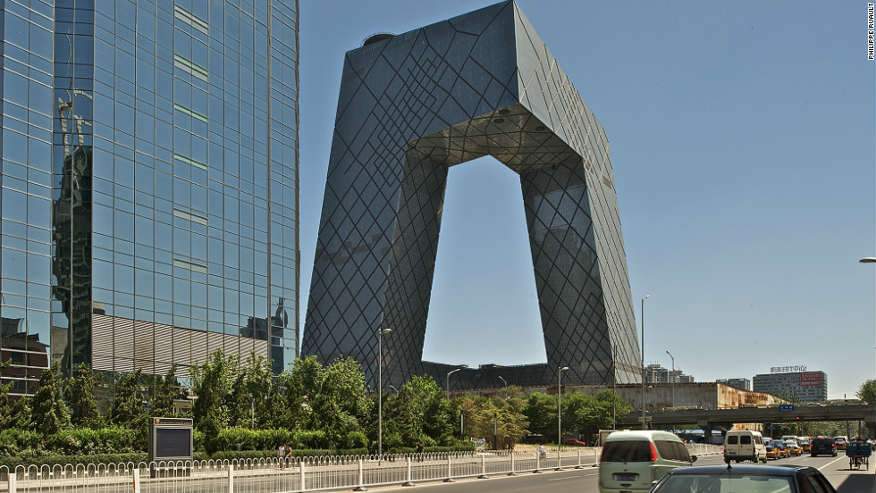 The CCTV building in Beijing, China, designed by Rem Koolhaas and German architect Ole Scheeren took 10 years to complete. It is known locally as &quot;The Big Pants.&quot; 