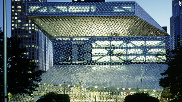 Koolhaas' design for <a href='http://www.archdaily.com/11651/seattle-central-library-oma-lmn/'>Seattle Central Library,</a> completed in 2004, was among the first of his public commissions to be internationally acclaimed.