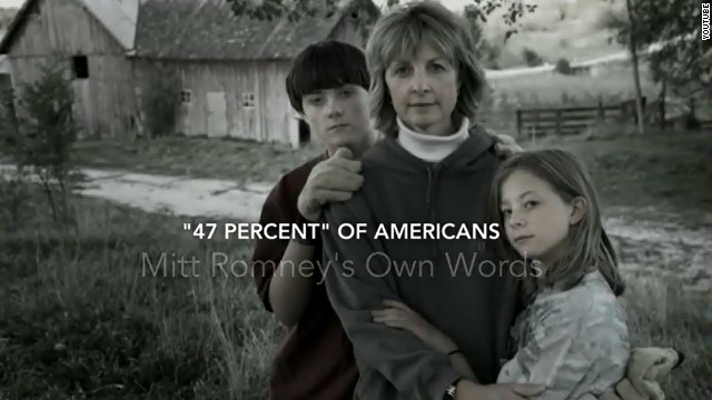 Entire Obama ad made from controversial Romney remarks