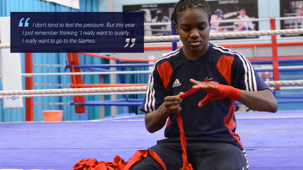 Nicola Adams: &quot;I don't tend to feel the pressure. But this year I just remember thinking I really want to qualify. I really want to go to the Games.&quot; 