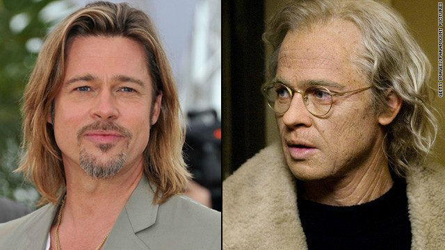 "For his role as a man who aged in reverse in ""The Curious Case of Benjamin Button,"" Brad Pitt ""had to endure the most complicated and time-consuming makeup effects,"" sometimes spending five hours at a time in the makeup chair, producer Frank Marshall <a href='http://www.variety.com/article/VR1117996923?refcatid=3470' target='_blank'>told Variety</a> in 2008."
