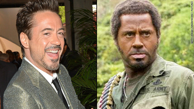 "Even if you don't remember 2008's ""Tropic Thunder,"" you likely recall that Robert Downey Jr. was in blackface for his role. The controversial makeup choice <a href='http://www.ew.com/ew/article/0,,20182058,00.html' target='_blank'>was reflective of</a> the lengths that Downey's method actor character, Kirk Lazarus, would go to portray a Vietnam War sergeant who was initially written as African-American."