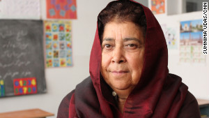 Razia Jan\'s school teaches math, science, religion and three languages: English, Farsi and Pashto.
