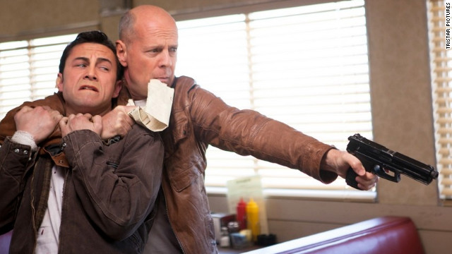Joseph Gordon-Levitt and Bruce Willis star as Joe in 
