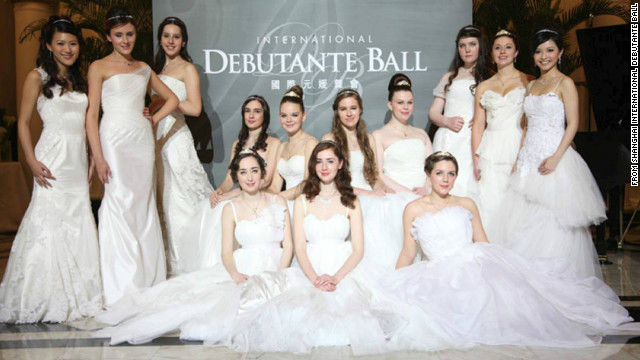 Thirteen debutantes attended the first ball in Shanghai from a number of ...