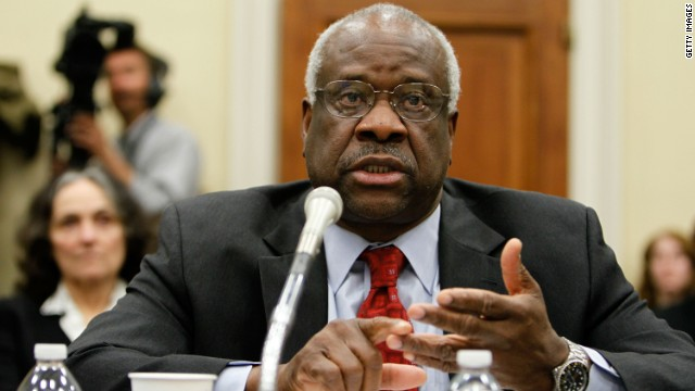 Justice Clarence Thomas, 64, is the second African-American to serve on the court, succeeding Justice Thurgood Marshall when he was appointed by President George H. W. Bush in 1991. He is a conservative, a strict constructionist who supports states' rights.
