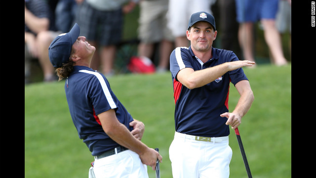 Phil Mickelson, left, was paired with Keegan Bradley on Thursday.