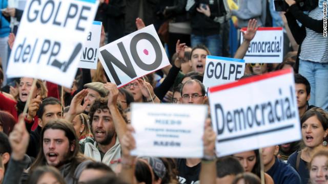 España aguarda más protestas tras darse a conocer el nuevo presupuesto