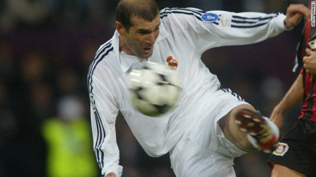 Four years later, Zidane painted his masterpiece at Hampden Park in Glasgow. With the scores level at 1-1 between Zidane's Real Madrid and Germany's Bayer Leverkusen in the 2002 European Champions League final, the Frenchman expertly dispatched a Roberto Carlos cross with a stunning volley from the edge of the penalty area. The sumptuous strike was enough to secure Real a ninth European crown.
