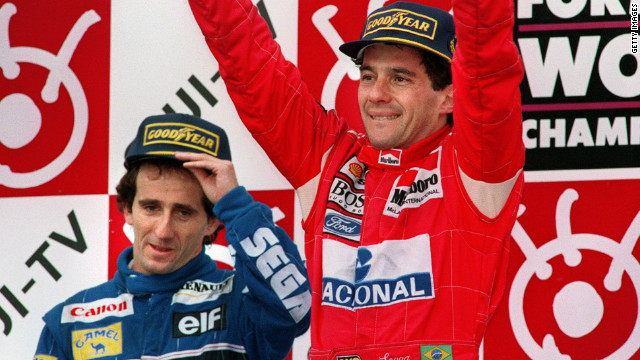 The Mercedes duo's fight for the 2014 title has led to comparisons with Ayrton Senna (right) and Alain Prost's famously fierce rivalry.
