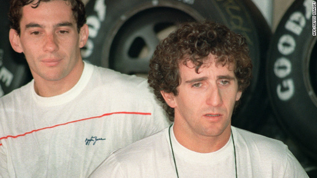 Prost and Senna's relationship came under great strain as they both battled for the 1988 and 1989 world title when they were McLaren teammates.