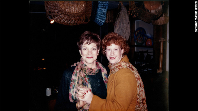 Allison Gilbert and her mother, Lynn, in 1995 on the day Gilbert got engaged. Her mother died two months later from ovarian cancer.