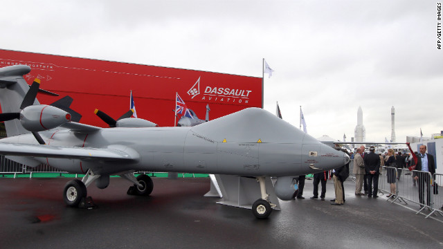  A model of a surveillance drone built by Dassault Aviation and BAE Systems is displayed at the International Paris Air show in 2011.