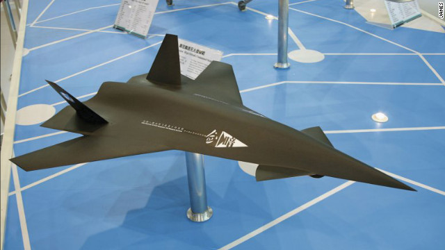 A model of China's &quot;Dark Sword&quot; UAV. According to Jane's Defense &amp; Security Intelligence &amp; Analysis, the drone remains only a model, but offers an example of where China may go with its drone technology.