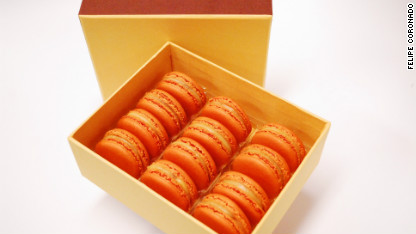 pumpkin macarons