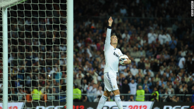 Ronaldo has scored 160 goals in 164 appearances for Real Madrid since his move from Manchester United in 2009. His determination to win is always evident, even when it comes to beating his girlfriend at swimming in their own pool. He said: &quot;Sometimes you have to give her an opportunity to be happy, but I win because I don't like to lose.&quot;