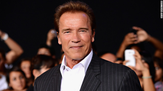 Arnold Schwarzenegger arrives at 