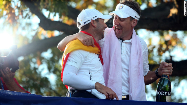 Poulter was Europe's main man in Medinah, winning all four of his matches as his team came back from 10-6 down to claim an unlikely victory.