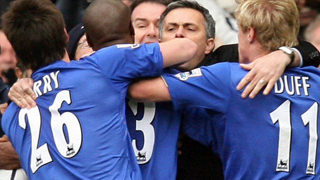 Mourinho led Chelsea to consecutive league titles in 2005 and 2006 after making the move from Porto following his Champions League triumph. He remains close to Blues owner Roman Abramovich despite his acrimonious departure.