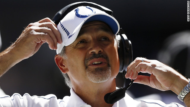 Prognosis favorable for Colts coach with leukemia