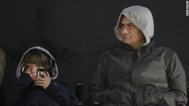Mourinho often takes his children along to watch matches with him. It's a far cry from the field where his son, Jose, plays football and is often taunted because of who his father is.