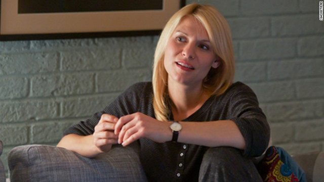 &quot;Homeland,&quot; starring Claire Danes, dethroned &quot;Mad Men&quot; as the winner of Emmy's best drama award.