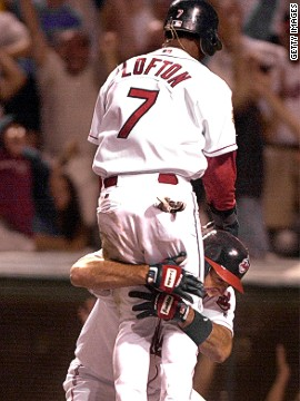 It is baseball's greatest fairytale comeback. In August 2001, the Seattle Mariners were on their way to equalling the major league record of 116 victories in a season. They led the lowly Cleveland Indians 14-2 at the halfway stage and though the Indians rallied they still needed five full runs with only one out remaining - and got them to win 15-14 in the 11th innings, with Kenny Lofton grabbing the crucial score.
