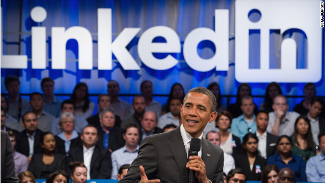 President Barack Obama, pictured during a LinkedIn town hall last year, is one of 150 