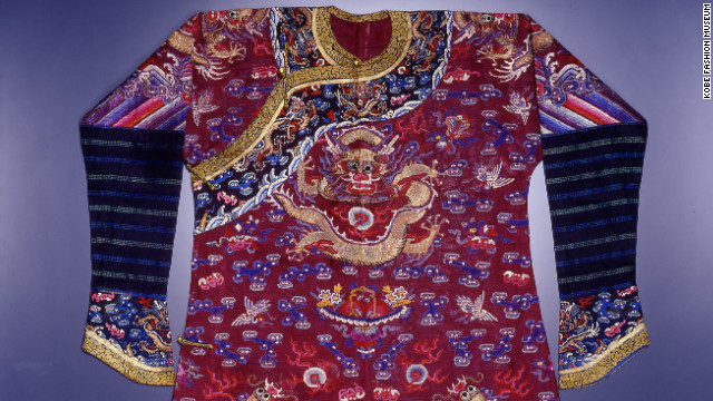 This Manchu Man's semi-formal summer court dress (Chi-fu) and Dragon robe (Lung p'ao) from the end of the Ch'ing Dynasty in China is on display here.