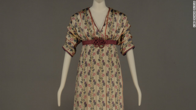 The Kobe Fashion Museum displays garments from across the globe, including this 1912 day dress from French designer Paul Poiret.