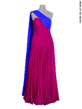 "This gown, worn by Princess Diana, is from the Museo's 2008 exhibition, ""Diana, Inspiration for a New Generation.""."