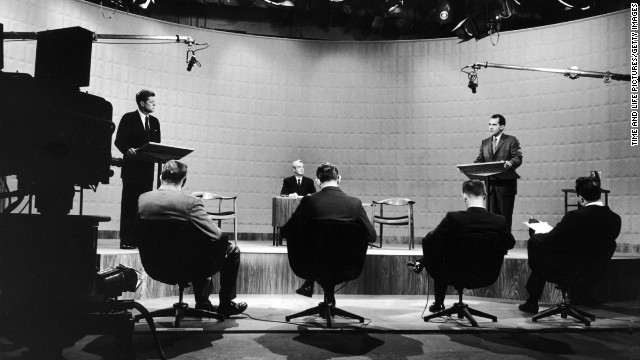 "The 1960 campaign for the White House is often called the first ""modern"" presidential election. It's been more than 50 years since the first televised presidential debates in American history, but the four TV showdowns between John F. Kennedy and Richard Nixon in the fall of 1960 still hold a prominent — and well-deserved — place in United States political lore. <br/><br/>"
