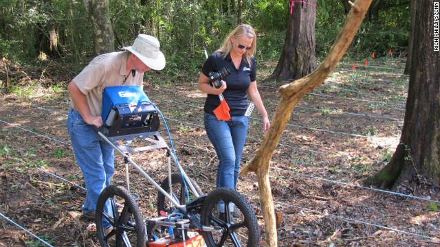 Forensic anthropologists who once worked for the U.N. in Yugoslavia searching for mass graves are now using ground penetrating radar in a humanitarian effort to find out who is buried in a small makeshift cemetery built on the grounds of the former reform school for boys near Tallahassee, Florida.