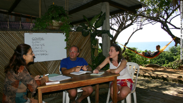The Instituto de Lenguajes Puerto Escondido in Mexico offers small group and Spanish language lessons -- with ocean views, no less.
