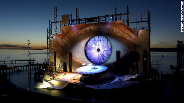 The Bregenz Festival production of Tosca, with its startling open-eye backdrop, featured prominently in 2008's &quot;Quantum of Solace.&quot;