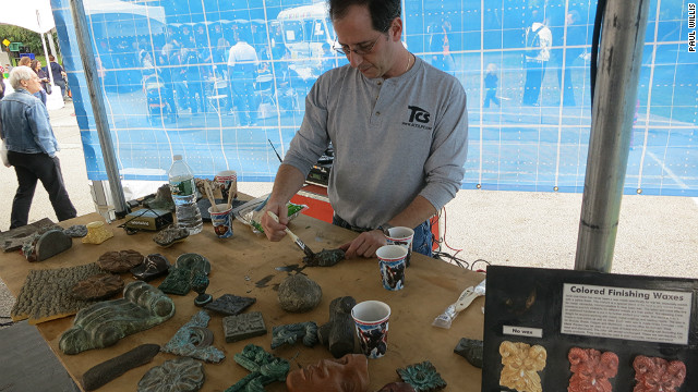 Special-effects expert Marc Fields (pictured) hosted a seminar explaining how to create movie props.