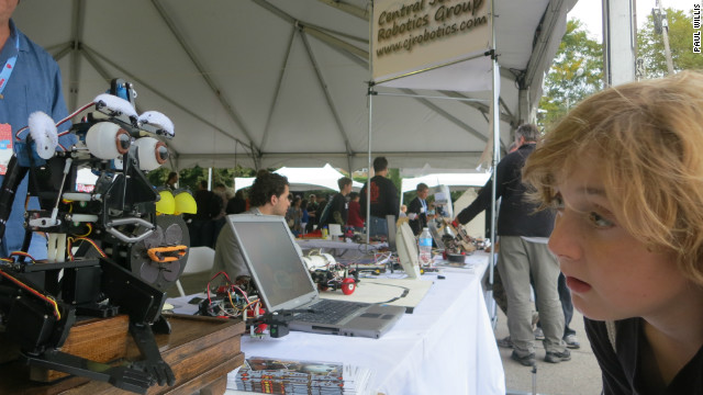 An encounter with a robot at the 2012 Maker Faire.