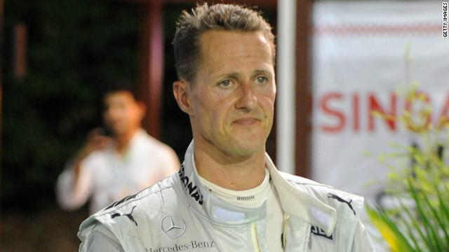 German Michael Schumacher won seven Formula One world championships between 1994 and 2004.