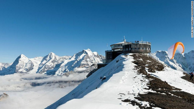 Known for its stunning alpine views, the Piz Gloria restaurant at the top of Schilthorn in Switzerland is featured in &quot;On Her Majesty's Secret Service&quot; (1969). 