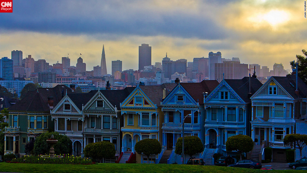 "As part of our <a href='http://edition.cnn.com/SPECIALS/greatbuildings'>Great Buildings</a> special, CNN iReport asked you to send in photos and video of your favorite buildings. Here are a selection of the best. John McGraw took this stunning picture of San Francisco's Painted Ladies. ""To see the city of San Francisco waking up in the background was an amazing site,"" McGraw said."