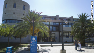 Police say the suspect planned his attack at the University of the Balearic Islands, pictured here.