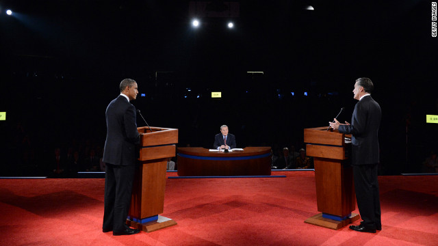The first of three presidential debates focused on domestic issues: the economy, health care and the role of government.