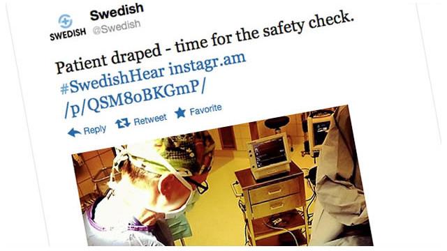 Un hospital transmite una cirugía de oído por Twitter e Instagram