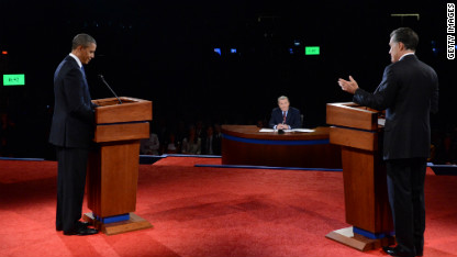 Getty/CNN Photo from Obama-Romney Debate