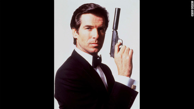 Pierce Brosnan poses for a publicity shot for &quot;GoldenEye&quot; in 1995.