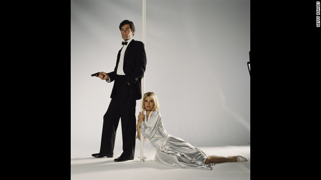 Timothy Dalton and Maryam d'Abo as Kara Milovy pose for a publicity still for the 1987 film &quot;The Living Daylights.&quot; 
