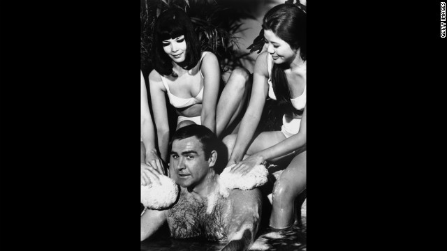 Connery surrouned by bathing beuties in &quot;You Only Live Twice&quot; in 1966.