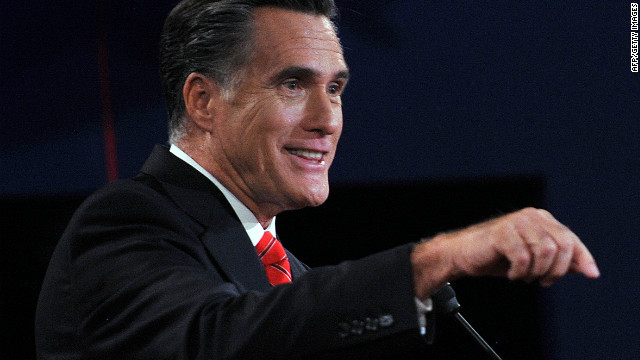 Republican presidential candidate Mitt Romney speaks during his debate with US President Barack Obama.