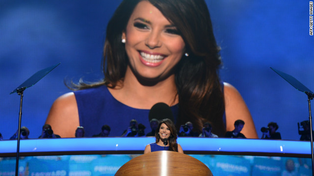 "October 2012: 2012 also marked the year of the political Latino celebrity, starring Eva Longoria. The actress' political profile was heightened in the election year, as she became a respected player not only in Hollywood, but also Washington, working with the Obama campaign. ""My government and economics teacher gave us a project where we all had to volunteer during the election. We could choose whatever party, but we had to volunteer and help register people to vote. It was part of our grade,"" Longoria said. ""So I caught the political bug from there."""