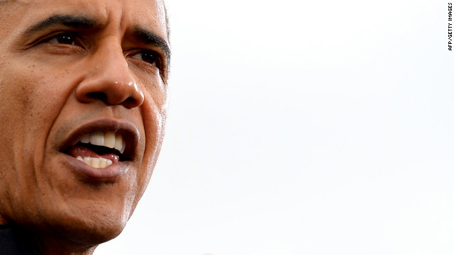 Obama speaks at a campaign rally in Denver on Thursday. He accused his Republican challenger of dishonesty over tax policy and other issues brought up in Wednesday night's presidential debate.